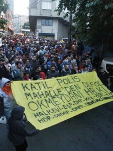 Okmeydan polis saldrisi protestosu