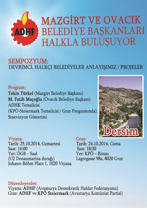 Mazgirt ve Ovacık belediye başkanları halkla buluşuyor