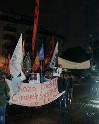 Gazi'de işçi katliamları protesto edildi