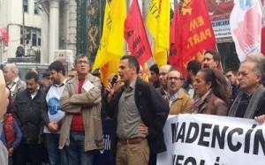 isci katliamlari protesto edildi