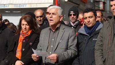 Dersim'de Uğur Yeşiltepe için basın açıklaması