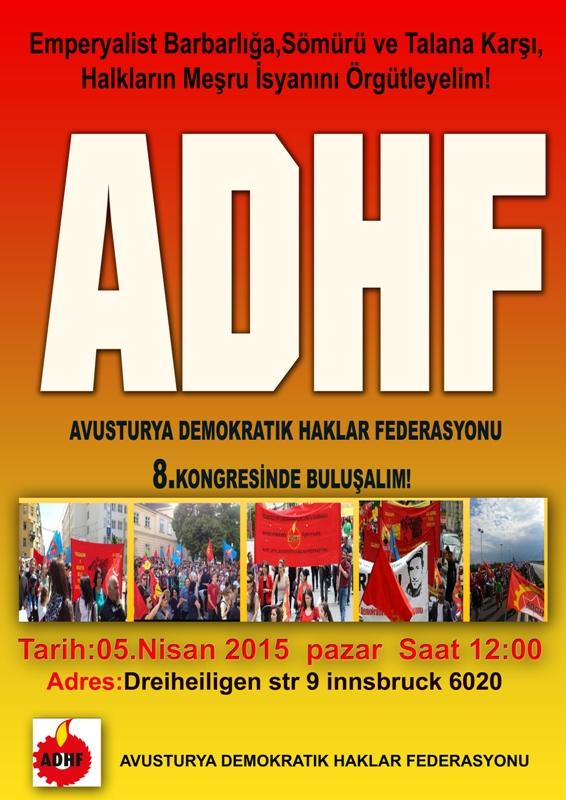 Avusturya Demokratik Haklar Federasyonu 8. Kongresinde Buluşalım!