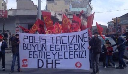 Okmeydanı'nda polisin kirli politikalarına karşı eylem