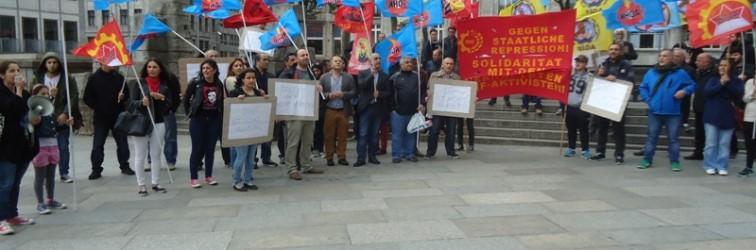 Köln; Devrimci İrade Teslim Alınamaz, Gözaltı ve Tutuklama Terörüne Karşı DHF ile Mücadeleyi Yükselt