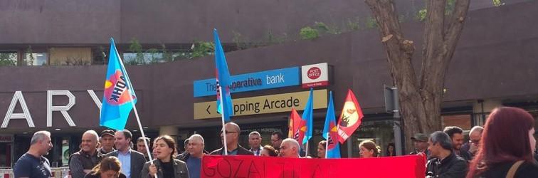 Londra YÇKM'den DHF'ye yönelik gözaltıları protesto gösterisi