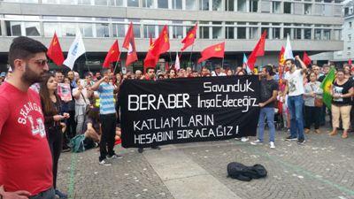 Zürih'te binler Suruç katliamını protesto etti!