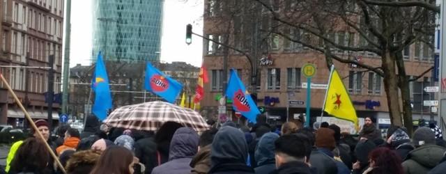 Türk devletinin Cizre katliamı Frankfurt'ta protesto edildi