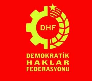 DHF krmz zemin amblem