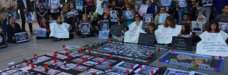 Cumartesi Kayıp Annelerinin 600. hafta çığlığı Frankfurt'ta kadın örgütleri tarafından alanlara taşındı