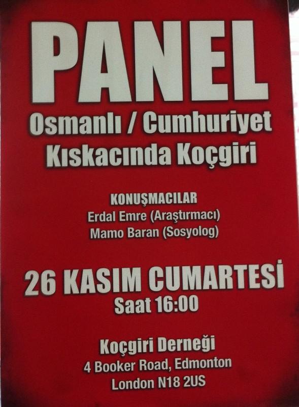 Panel, Osmanlı / Cumhuriyet Kıskacında Koçgiri