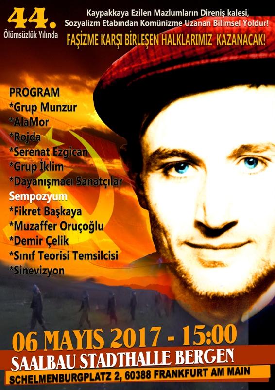 Frankfurt; Komünist Önderimiz İbrahim Kaypakkaya Yoldaşı Anıyoruz!