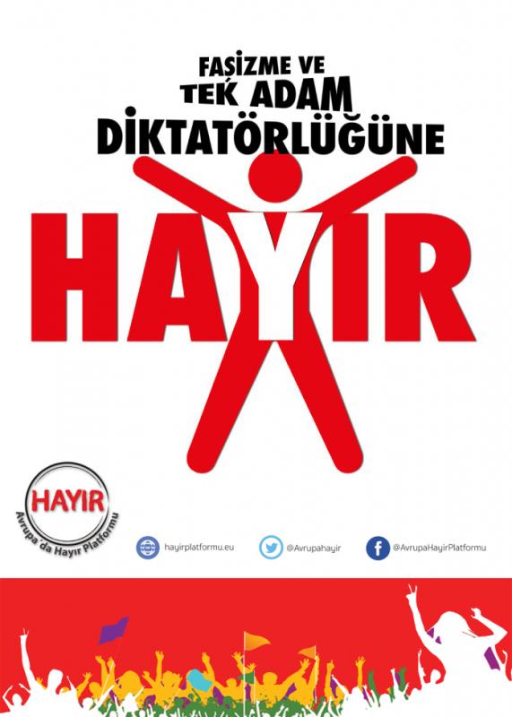 Faşizme ve Tek Adam Diktatörlüğüne HAYIR !