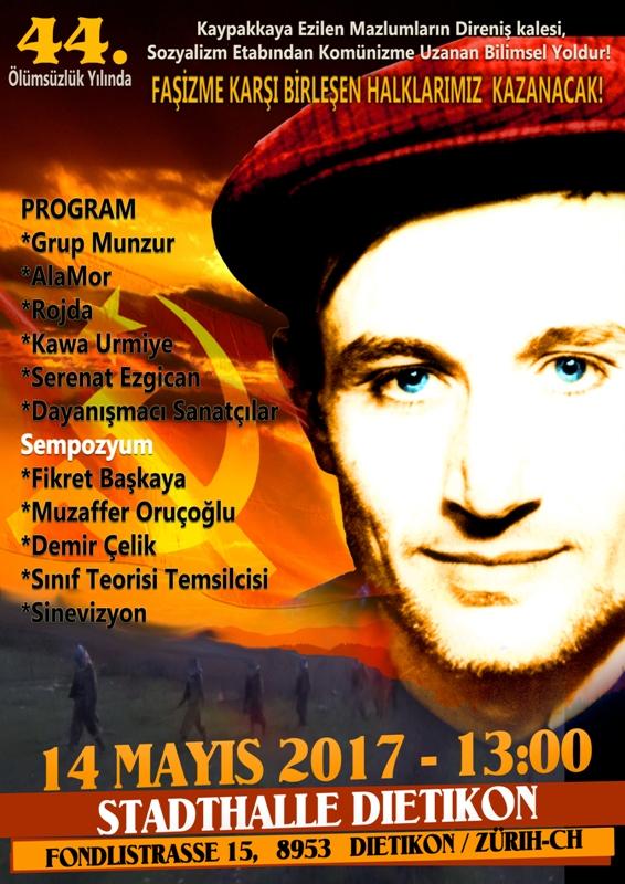 Zürich; Komünist Önderimiz İbrahim Kaypakkaya Yoldaşı Anıyoruz!