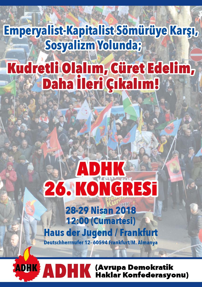 ADHK 26. Kongresinde Buluşalım!