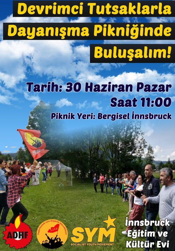 DEVRİMCİ TUTSAKLARLA DAYANIŞMA PİKNİĞİNDE BULUŞALIM!